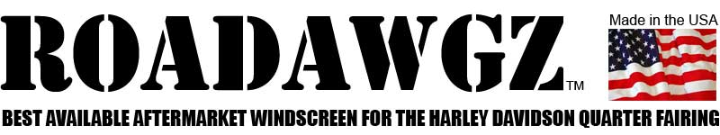Roadawgz - Best available aftermarket windscreen for the Harley Davidson Quarter Fairing